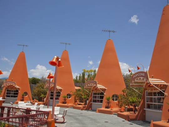 The Cozy Cone Motel in Cars Land at Disney's California