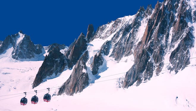 """Near Chamonix, these """"telecabines"""" float riders from France into Italy for Europe's most exciting border crossing."""