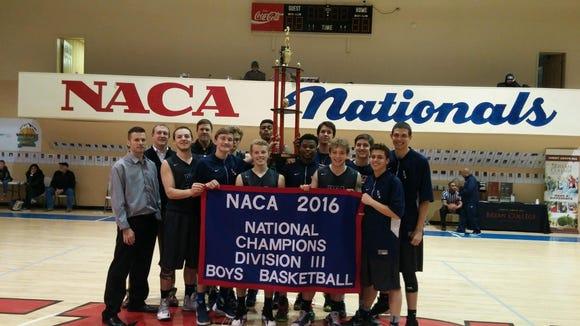 The Veritas Christian Academy boys basketball team won the National Association of Christian Athletes Division III tournament last week in Dayton, Tenn.