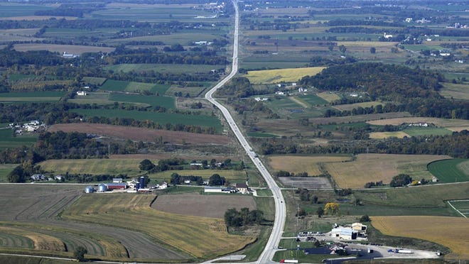Highway 23 looking west as it heads into Fond du Lac.