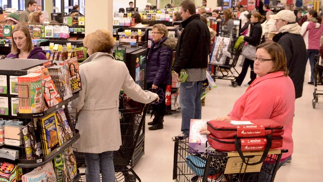 Black Friday shoppers in Manitowoc take advantage of Shopko's Doorbuster deals in 2013.