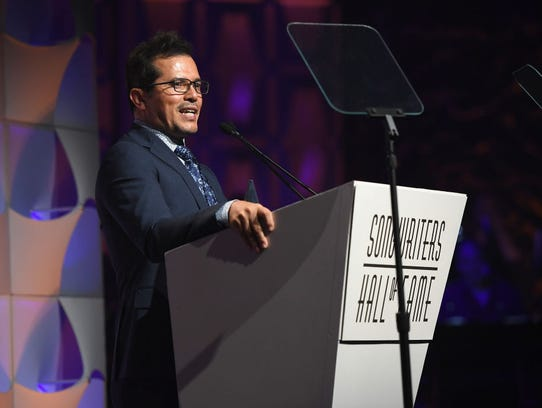 John Leguizamo speaks onstage at the Songwriters Hall