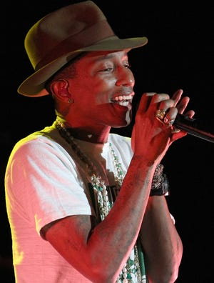 Pharrell Williams performs at the Sprint Sound Sessions event at Webster Hall on  April 29 in New York.