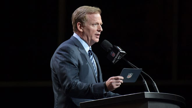 Roger Goodell will once again preside over the NFL Draft starting Thursday night.