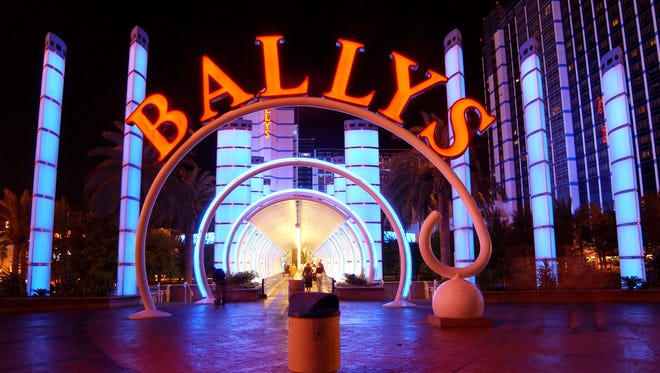 The Bally's Hotel and Casino entrance is seen on May 30, 2002 in Las Vegas, Nevada.