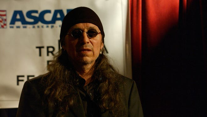 Singer John Trudell performs during the Tribeca Film Festival Music Panel at The ASCAP Lounge in New York City in 2005.