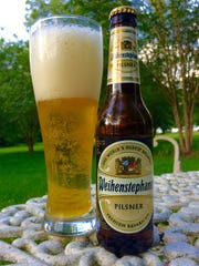 Germany's pilsners, such as Weihenstephaner Pilsner, tend to have a slightly paler color than a Czech Pilsner, with quite a bit more breadiness in the taste.