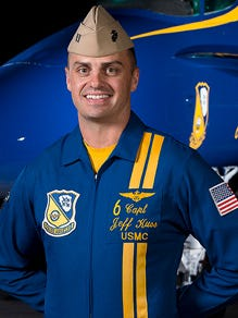 Blue Angel pilot Marine Capt. Jeff Kuss