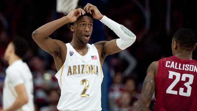 Arizona Wildcats guard Kobi Simmons (2) is entering the NBA draft after one season in Tucson.