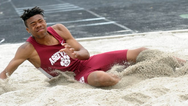 Asheville High's Mekhi McGuyer has committed to the Florida A&M track program.