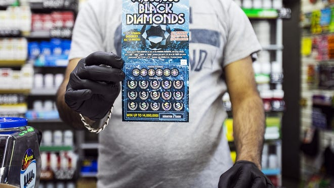 Gas Depot on Main Street in Brockton is one of many gas stations that has seen a decline in lottery ticket sales on Friday, June 5, 2020.
