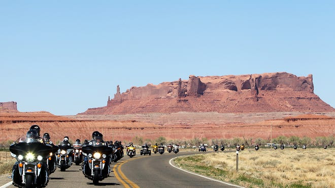 The Kyle Petty Charity Ride Across America is in its 21st year and goes from Santa Cruz, California to Branson, Missouri. Richard Petty — NASCAR hall of famer — driver Matt Kenseth, legends Harry Grant and Donnie Allison, former NFL star Hershel Walker and Harley-Davidson CEO Matt Levatich are just some of the celebrities who are joining in the ride.