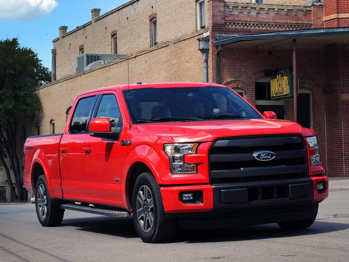 The all-new 2015 Ford F-150 on the streets of San Antonio