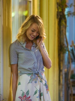 "This photo provided by Sony Pictures Entertainment shows, Emma Stone, in a scene from Columbia Pictures' ""Aloha."""