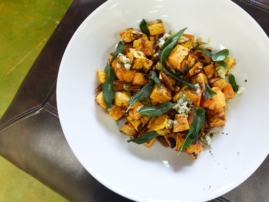 Melissa Stewart's roasted sweet potatoes with blue cheese, pecans and ...