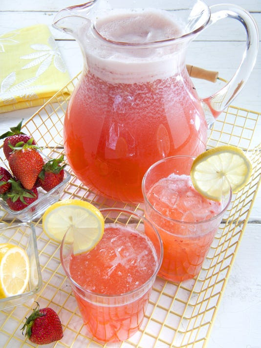 Pink lemonade a real treat when using fresh juice and fruit