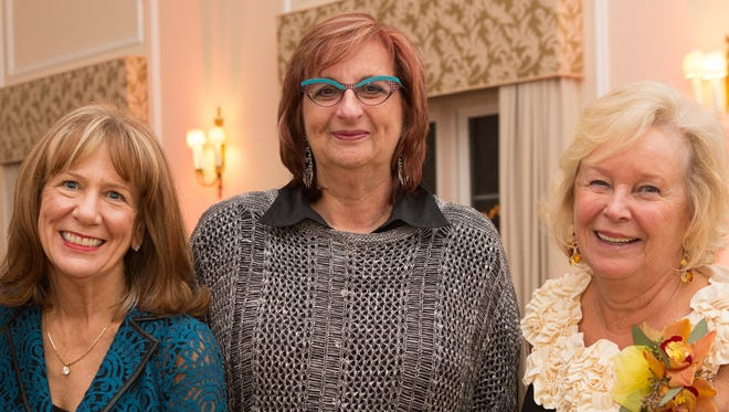 From left, Anne Kauffman Nolon, Edye Schwartz and Mary Nicolich were honored by the Mental Health Association of Westchester during a benefit Friday.