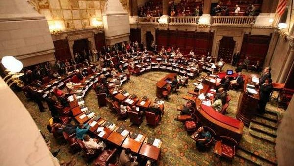 The New York state Senate in session in Albany.