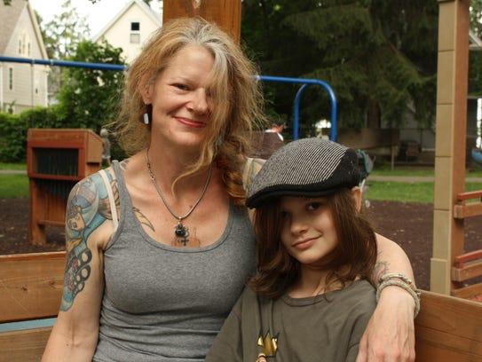 Kari Gronros, 49 and her son Jack Fredella IV, 11,