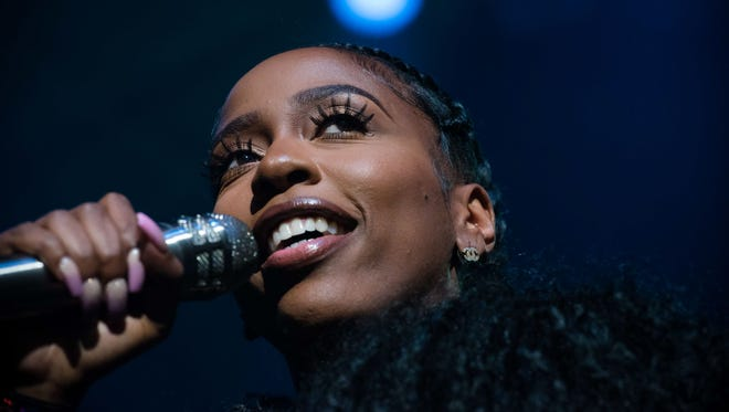 Kash Doll performs at the Detroit Music Awards on May 4, 2018.