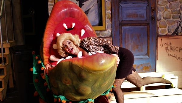 """Kelly Brown Clemenzi as Audrey in """"Little Shop of Horrors"""" at Vero Beach Theatre Guild."""