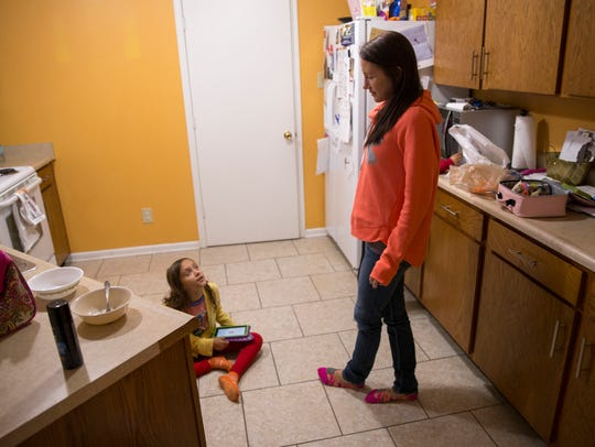 Kelly Agnew with her daughter Adallee Omran, at their