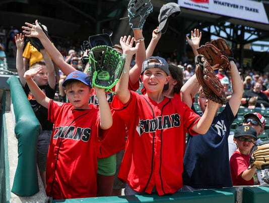 Indianapolis Indians versus Columbus Clippers at Victory Field in Indianapolis, Sunday, July 8, 2018