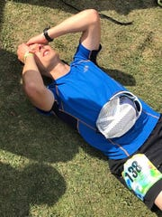 Brad Polnasek after completing the 2017 Hallucination 100 Ultramarathon in 22 hours, 12 minutes.