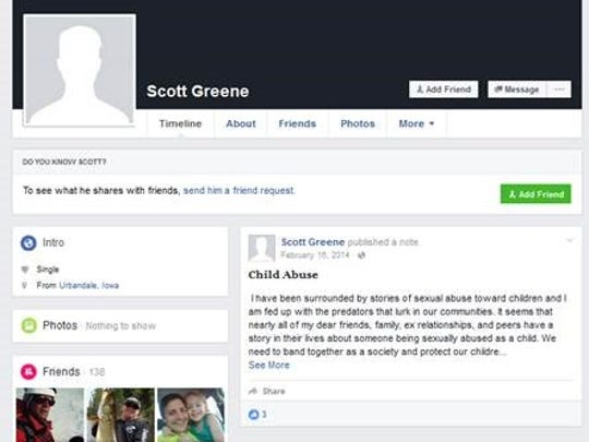 This post from 2014 is the only one made public from Scott Greene's account