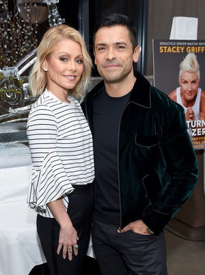 'All My Children' co-stars Kelly Ripa and Mark Consuelos, photographed in New York City in March, wed in 1996.