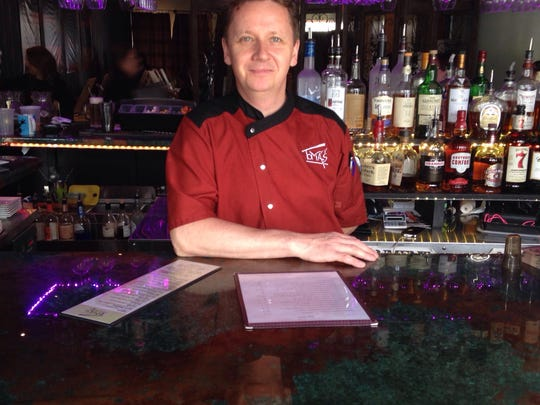 Owner Tomáš Monosi behind the bar of Tomáš restaurant and lounge in Wappingers Falls.