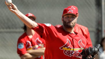 Lynn pitches for Cards after missing 2016 with elbow injury