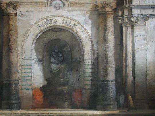 """Richard Bunkall, """"The Poet."""" Oil on canvas, 48"""" x 68"""""""