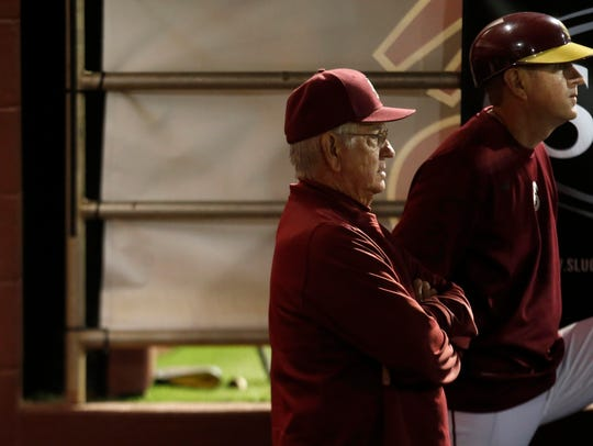 FSU Head Coach Mike Martin and Assistant Coach Mike