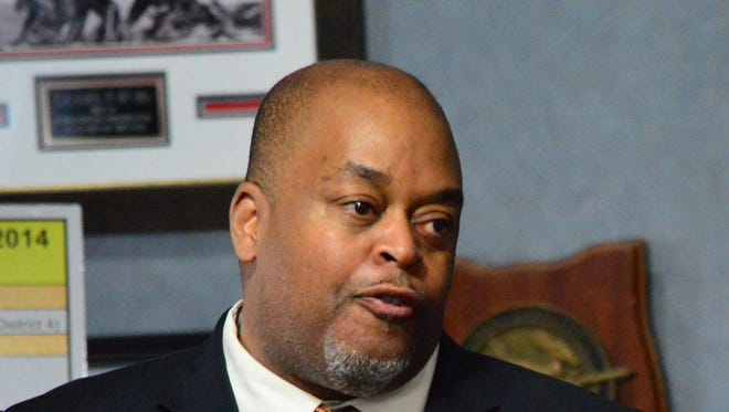 Niger Innis speaks at an event in Mesquite in 2014.