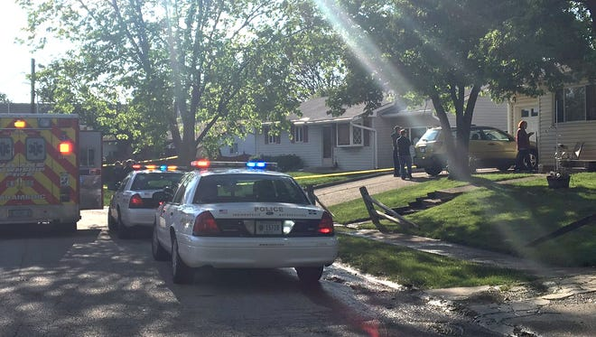 Indianapolis Metropolitan Police are investigating the scene of a fatal shooting in the 5900 block of Bertha Street on the city's west side, Friday, May 5, 2017.