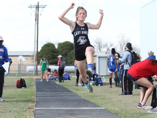 Grape Creek High School's Kimberly Salisbury competes