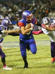 Isaac Brown runs right in the middle.Shadow Hills 32, Indio 13 -- The Mayor's Cup will stay with the Knights!