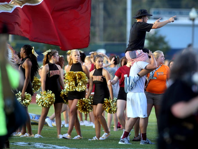Fans, Bands and Pre-Game activity at the Siegel vs. Riverdale week zero game at Siegel, on Friday,  August  22, 2014.