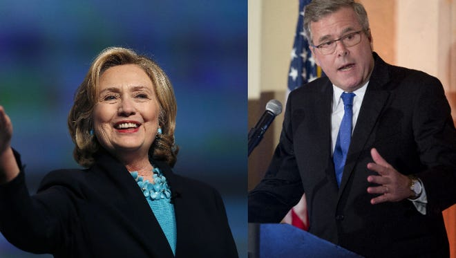 Likely presidential candidates former Florida Gov. Jeb Bush and former U.S. Sen. Hillary Clinton are in a dead heat in Florida.