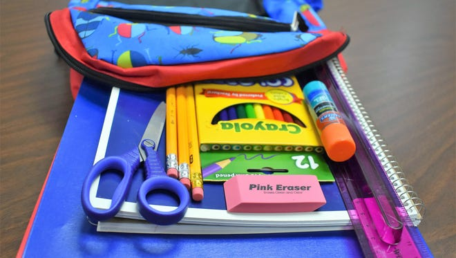 Some school supplies and clothing items will be sales tax free from Aug. 3 through Aug. 5 for the annual sales tax holiday.