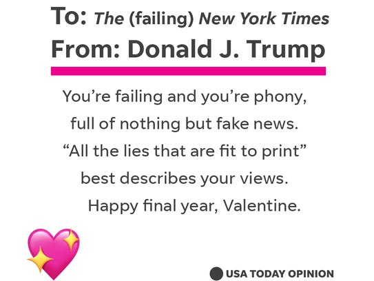 One to the 'fake news'