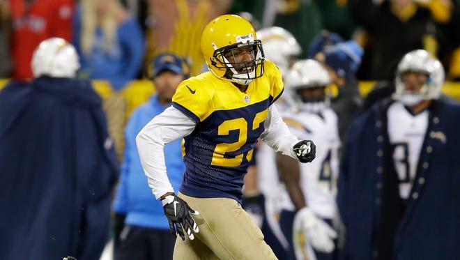 Green Bay Packers cornerback Damarious Randall.