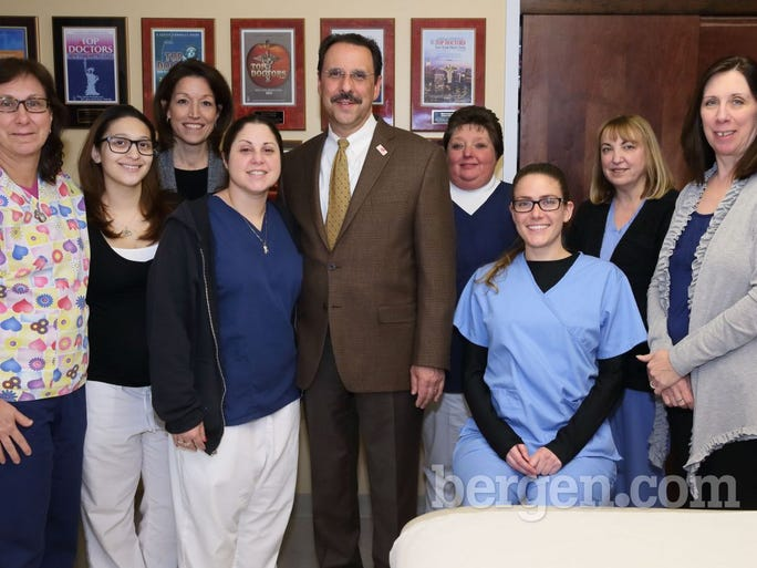 Mickey Wilder; Linda Mercado; Denise Crosta; Jennifer Stevens; Robert J. Tozzi, M.D., section chief, Pediatric Cardiology, Joseph M. Sanzari Children's Hospital, HackensackUMC; Lisa DeMarco; Lindsey Tennant; Cheryl McKittrick; Janet Peluso (Photo by Seth Litroff)
