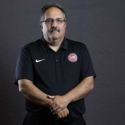 Detroit Pistons coach Stan Van Gundy poses during the
