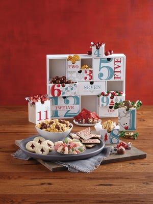 Twelve days of Christmas gift basket from Harry & David.