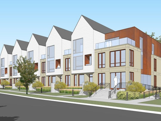 A proposal to put up a three-story apartment building