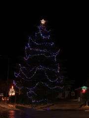 The town Christmas tree in Springdale was lit during