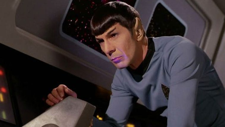Leonard Nimoy as Mr. Spock on 'Star Trek'