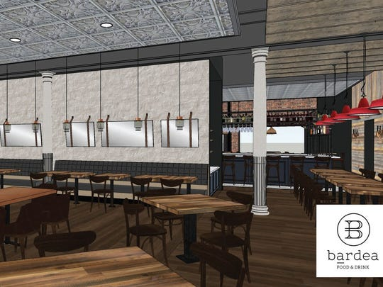 An artist's rendering of Bardea, a new restaurant coming soon to Sixth and Market streets in downtown Wilmington.